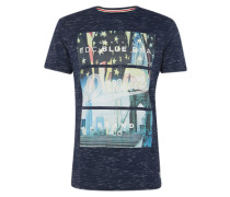 Shirt 'flag city tee' navy / mischfarben