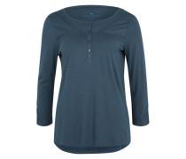 Henley-Shirt mit Spitzenborten grün