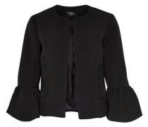 Kurzer Glockenärmel-Blazer schwarz