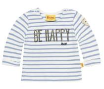 Sweatshirt 3/4 Armlänge blau / weiß