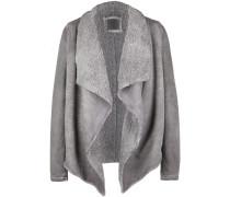 Sweatjacke Jacket Sherpa grau