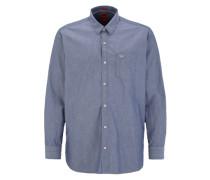 Regular: Hemd mit Denim-Details blau