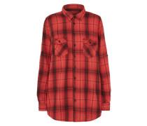 Bluse 'Cecile Cotton Check' rot / schwarz