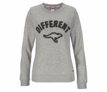 Sweatshirt graumeliert / schwarz
