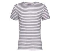 Shirt mit Streifen hellgrau / weiß