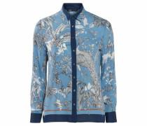 Klassische Bluse blau / hellblau / weiß
