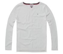 Pullover 'thdw Basic CN Sweater L/S 11' weiß