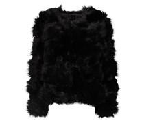 Jacke aus Kunstfell schwarz