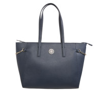 Shopper in Saffianoleder-Optik blau