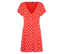 Kleid 'ella' rot / weiß