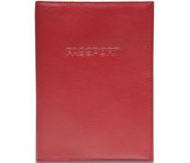 Passport Reisepassetui Leder 11 cm rot
