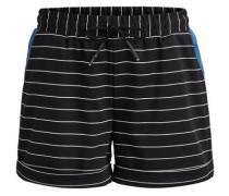 Gestreifte Shorts schwarz