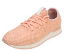 Sneaker mit Mesh-Einsätzen rosa