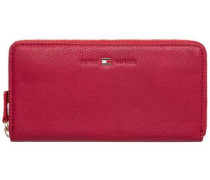 TOMMY HILFIGER Tommy Hilfiger Wallets »BASIC LEATHER LARGE Z/A WALLET« rot