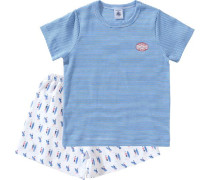 Schlafanzug für Jungen blau / rot / weiß