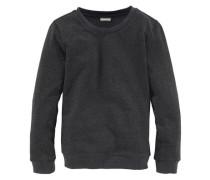 Sweatshirt mit klassischem Rundhalsausschnitt für Mädchen anthrazit