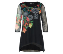 Oversized Shirt 'valery' mischfarben / schwarz