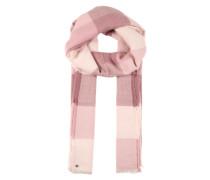 Schal mit Karomuster rosa