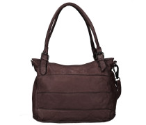 Waxed Leather Century Handtasche Leder 24 cm braun