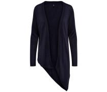 Asymmetrischer Strick-Cardigan blau