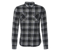 Hemd 'Refined Lumberjack Shirt' schwarz / grau