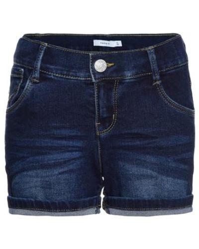 Jeansshorts 'nitaida' Slim blau