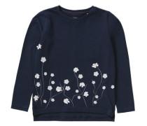 Langarmshirt mit Blumenapplikationen für Mädchen