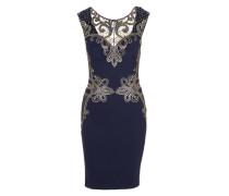 Kleid mit Goldstickerei blau