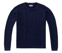 Pullover 'thdm Cable CN Sweater L/S 18' indigo