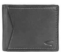 Cuba Geldbörse Leder 11 cm schwarz