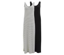 Maxikleid 2-pack schwarz / weiß