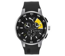 » 10416 - Chrono Silver Black Yellow Pu104161003« schwarz