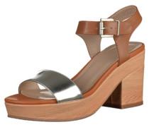 High Heel Sandalette silber