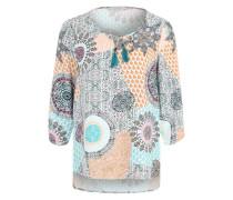 Bluse mit 3/4-Arm blau / grün / mischfarben