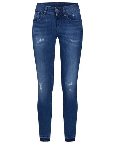'Lynn Mid Skinny RP Ankle' Jeans blau
