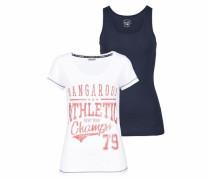 Print-Shirt (Set 2 tlg. mit Top) blau / weiß