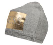 Mütze 'Cuffia' gold / grau