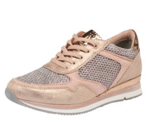 Sneaker mit viel Glitzer rosé