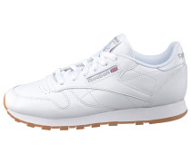 Leather Sneaker weiß