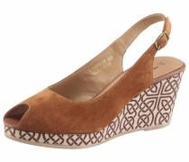 Sandalette creme / braun / rostbraun