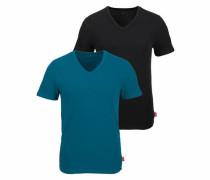 V-Shirts (2 Stück) in hochwertiger Rippoptik