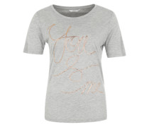 T-Shirt 'ou and me' hellgrau