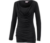 2-in-1 Langarmshirt Damen schwarz