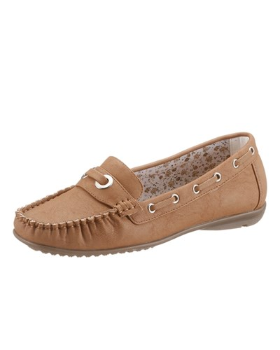 Slipper cognac
