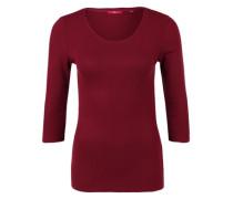 Rippshirt mit 3/4-Arm pink / rot