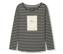 Shirt mit Streifen schwarz / naturweiß