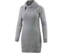 Strickkleid Damen grau