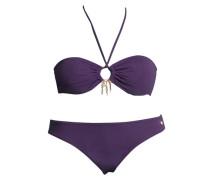 Bandeau-Bikini aubergine / dunkellila