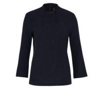 Bluse in Kreppoptik dunkelblau
