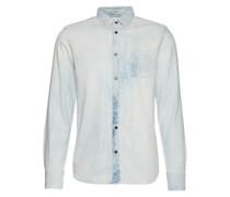 Jeanshemd mit Brusttasche hellblau